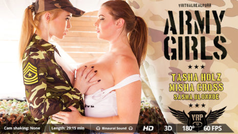 Virtualrealporn Army girls (29:20 min.)  Siterip VirtualReality XXX 60FPS 4100×2000 AAC Audio .mp4