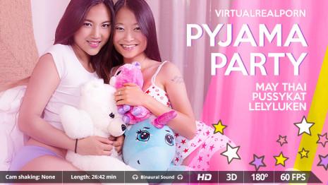 Virtualrealporn Pyjama party (26:40 min.)  Siterip VirtualReality XXX 60FPS 4100×2000 AAC Audio .mp4