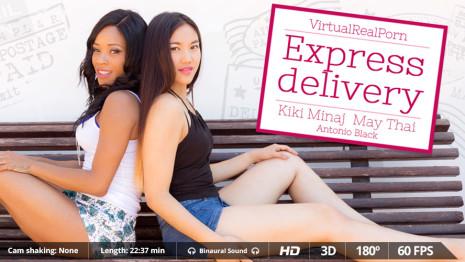 Virtualrealporn Express delivery (22:40 min.)  Siterip VirtualReality XXX 60FPS 4100×2000 AAC Audio .mp4