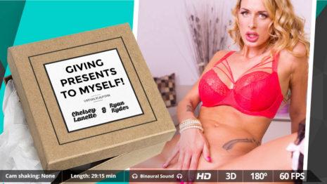 Virtualrealporn Giving presents to myself! (29:30 min.)  Siterip VirtualReality XXX 60FPS 4100×2000 AAC Audio .mp4