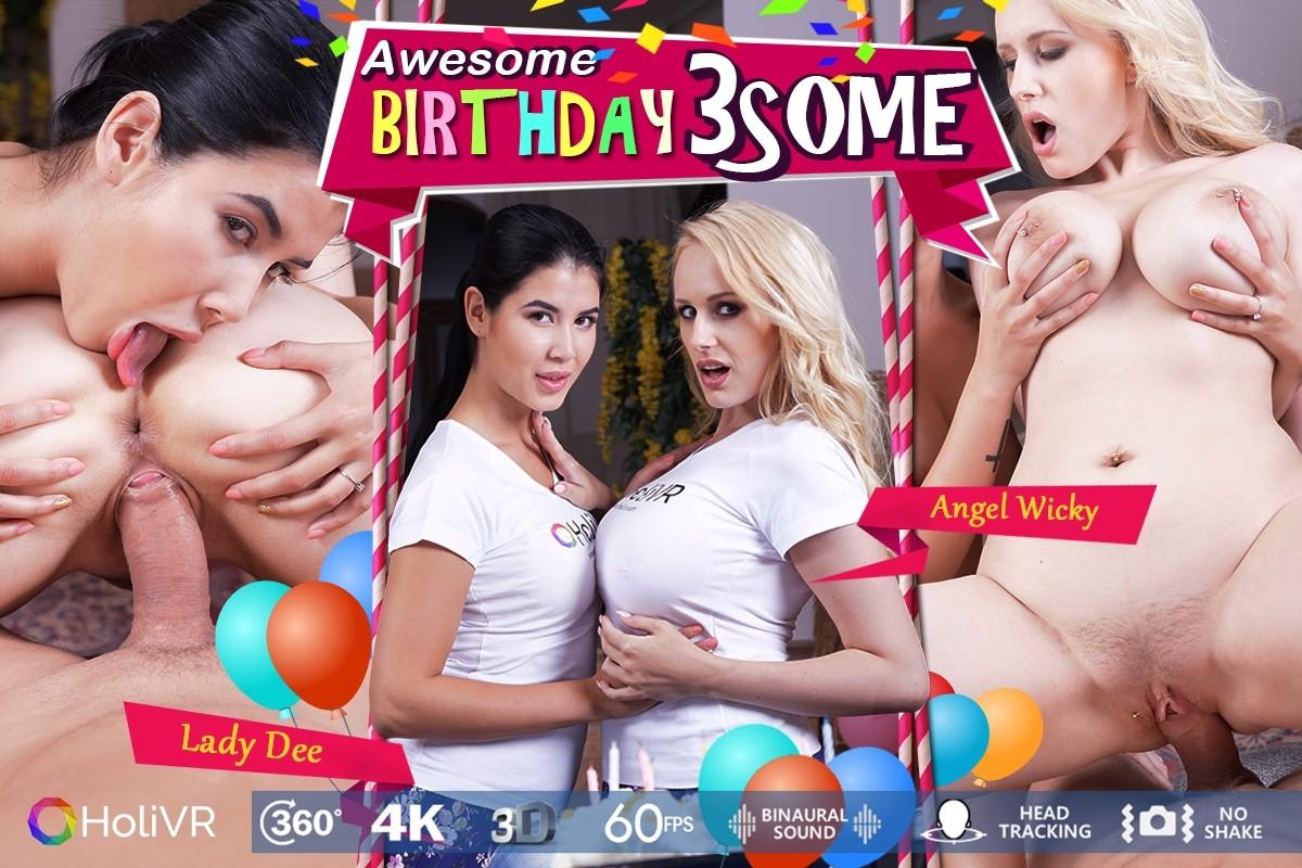 HoliVR.com Awesome Brithday 3some  Siterip 4k VR 3840px 60fps