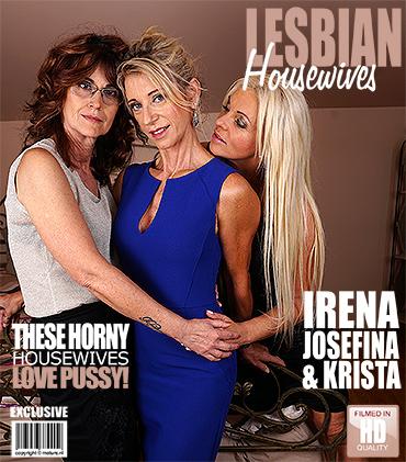 MATURE.NL 3 mature lesbians sharing their pussies  Siterip 1080p 1980×1020 wmv Video GRANNY XXX