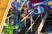 Sarah Jessie Sarah Jessie outside on stairs in front of wall  Siterip  Video HD 1920×1020 mp4 Pubanetwork