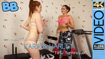Boppingbabes Kara & Harley  Titty Technique  SITERIP VIDEO Siterip