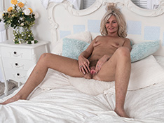 WeareHairy Ellen B Ellen B strips naked while laying in bed  [FULL PICSET Highres WEBRIP]