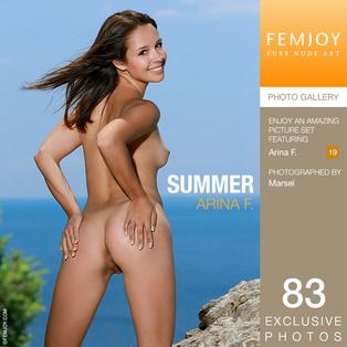 FEMJOY Summer feat Arina F. release July 25, 2017  [IMAGESET 4000pix Siterip NUDEART]