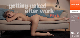 FEMJOY Getting Naked After Work feat Vika P. release October 1, 2017  [IMAGESET 4000pix Siterip NUDEART]