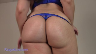 ManyVids LoveRaquelXO: BBW Ass Worship in Blue Lingerie  Siterip Clip XXX