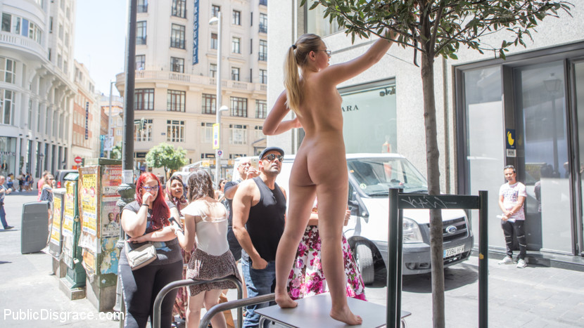 publicdisgrace Perky Blonde Selvaggia Fully Nude in Public Gets Anal Fisted & DP'd Nov 13, 2017 Siterip BDSM Kink.com