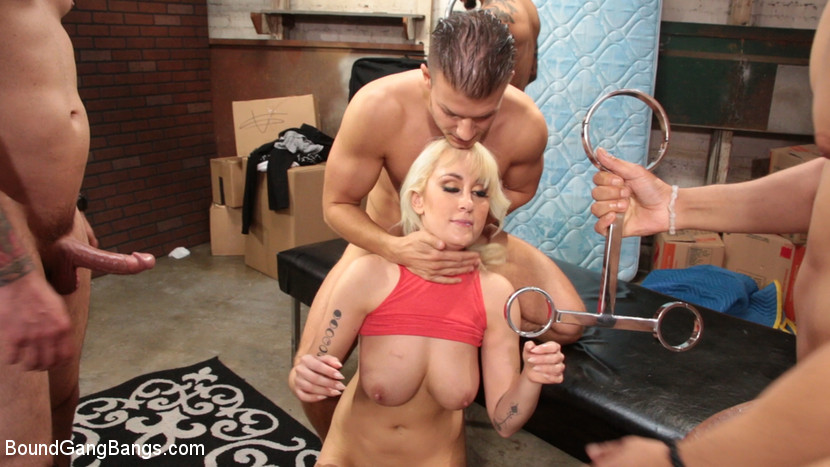 boundgangbangs Maxim Law, Blonde Girl Next Door, Bound and Gangbanged by Horny Movers Nov 15, 2017 Siterip BDSM Kink.com