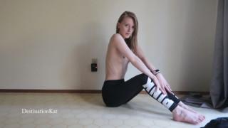ManyVids destinationkat  Your Yoga Partner's Breasts  Siterip Clip XXX