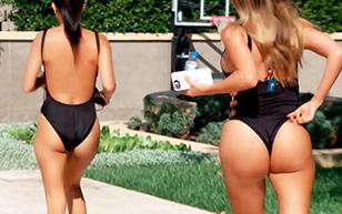 MrSkin Kourtney's Latest Poolside Scene in Keeping Up with the Kardashians  Siterip Videoclip