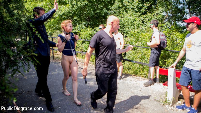 Kink.com publicdisgrace Blonde Czech Slut Gets Fucked In The ASS In Budapest  WEBL-DL 1080p mp4