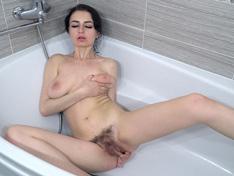 WeareHairy.com Tamanta enjoys a bath and masturbating today  Video 1089p Hairy Closeup