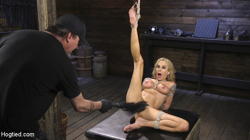 Kink.com hogtied Tattooed Big Busted MILF in Bondage, Tormented, and Made to Cum  WEBL-DL 1080p mp4 Siterip RIP
