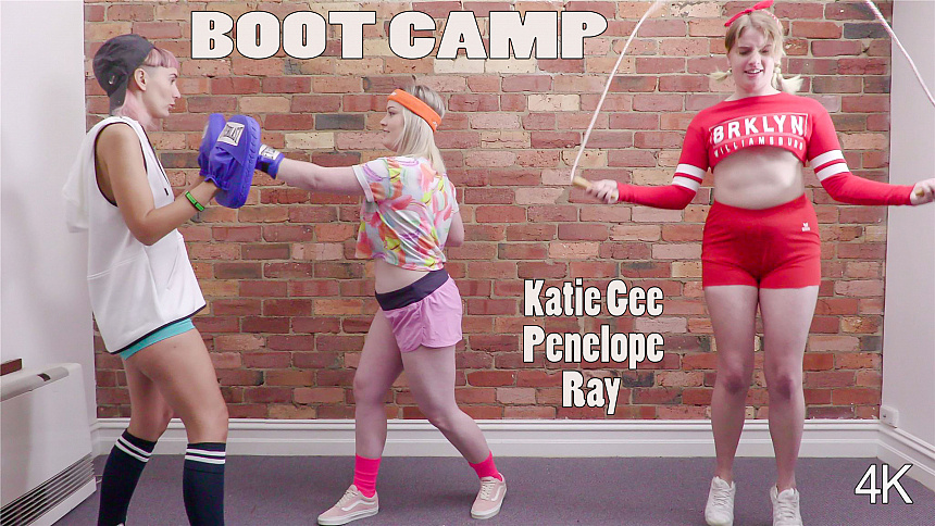 GirlsoutWest Katie Gee, Penelope & Ray – Boot Camp  Video  Siterip 720p mp4 HD