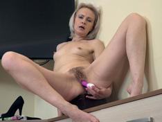 WeareHairy.com Amanda Blanshe masturbates as a cleaning lady  Video 1089p Hairy Closeup