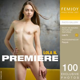 FEMJOY Premiere feat Lola N. release June 15, 2018  [IMAGESET 4000pix Siterip NUDEART]