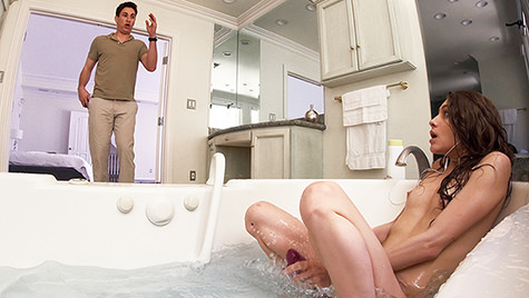 Spyfam SpyFam presents Stepsister Gives Stepbro Bathtub BJ  featuring Rebel Lynn posted May 28, 2018  Video XvID x264 mp4