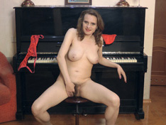 WeareHairy.com Pique Dame masturbates while at her black piano  Video 1089p Hairy Closeup