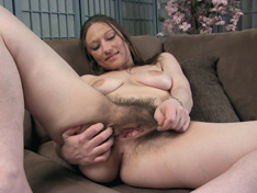 WeareHairy.com Cara Banx strokes and combs her hairy pussy  Video 1089p Hairy Closeup