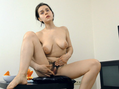 WeareHairy.com Ole Nina masturbates after her orange juice  Video 1089p Hairy Closeup