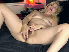 WeareHairy.com Badd Gramma strips beautifully on her bed  Video 1089p Hairy Closeup