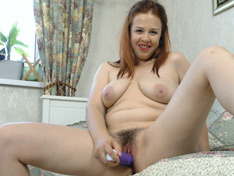 WeareHairy.com Lina masturbates with her purple vibrator  Video 1089p Hairy Closeup