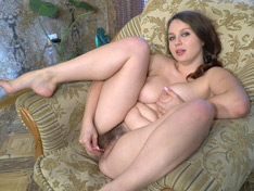 WeareHairy.com Adelia Rosa strips nude on her chair and enjoys it  Video 1089p Hairy Closeup