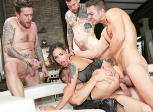 EvilAngel 3 Cocks, 1 Slut, Double Anal Gangbang! feat Malena  HD VIDEO Siterip 1080p HD