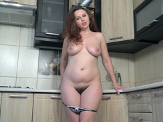WeareHairy.com Adelia Rosa strips and masturbates in her kitchen  Video 1089p Hairy Closeup