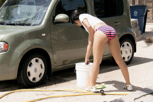 Amethyst Banks – Car Washing Hottie  SITERIP1080p wmv HD 1920×1000