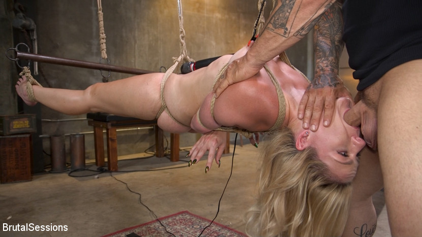 Kink.com brutalsessions Anal Attack: All Natural Blonde Lisey Sweet Ass Fucked in Rope Bondage  WEBL-DL 1080p mp4