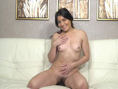 WeareHairy.com Julia Red masturbates and orgasms on her chair  Video 1089p Hairy Closeup