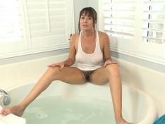 WeareHairy.com Elexis Monroe has sexy fun in her bathtub  Video 1089p Hairy Closeup