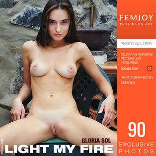 FEMJOY Light My Fire feat Gloria Sol release September 14, 2018  [IMAGESET 4000pix Siterip NUDEART]