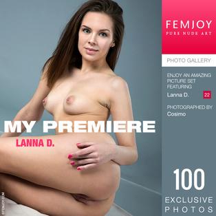 FEMJOY My Premiere feat Lanna D. release September 12, 2018  [IMAGESET 4000pix Siterip NUDEART]