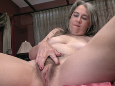 WeareHairy.com Jamie strips naked in her pink bed today  Video 1089p Hairy Closeup