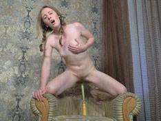 WeareHairy.com Emma Fantasy masturbates hard in her chair  Video 1089p Hairy Closeup