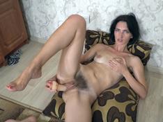 WeareHairy.com Aglaya masturbates with her toy after ironing  Video 1089p Hairy Closeup