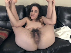 WeareHairy.com Aragne comes home to strips naked on her sofa  Video 1089p Hairy Closeup