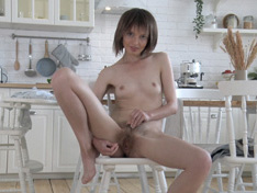 WeareHairy.com Aimee has fun being naked in her kitchen  Video 1089p Hairy Closeup