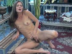 WeareHairy.com Vanessa Bush enjoys masturbating by her plants  Video 1089p Hairy Closeup
