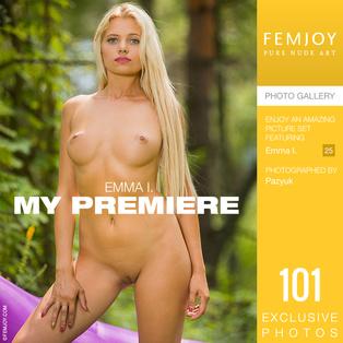 FEMJOY My Premiere feat Emma I. release November 2, 2018  [IMAGESET 4000pix Siterip NUDEART]