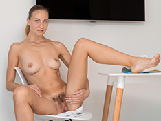 WeareHairy Kristina Bud Kristina Bud has hot orgasms at her desk today WEB-DL 720p Hairy/Unshaved/Natural