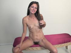 WeareHairy.com Vanessa Bush masturbates on her pink bench  Video 1089p Hairy Closeup