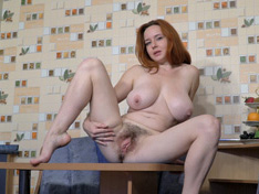 WeareHairy.com Elouisa strips naked after some coffee today  Video 1089p Hairy Closeup