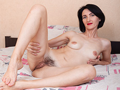 WeareHairy Aglaya Aglaya strips off her black lingerie in bed WEB-DL 720p Hairy/Unshaved/Natural