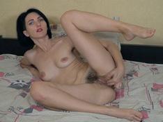 WeareHairy.com Aglaya enjoys hot orgasms as she masturbates  Video 1089p Hairy Closeup