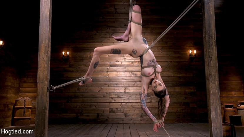 hogtied Tall Tattooed Slut in Grueling Bondage is Blissfully Suffering Jan 17, 2019[Kink.com]  Siterip BDSM h.264